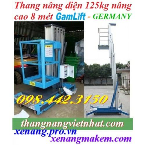 Thang nâng điện cao 8 mét - 125kg GAMLIFT GTWY8-100