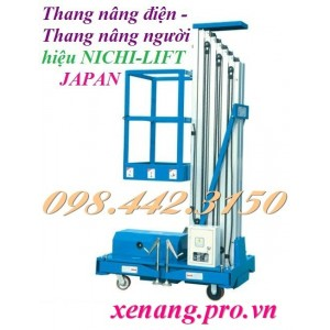 Thang nâng điện cao 8 mét - 125kg NICHI-LIFT NTWY8-100
