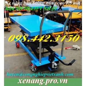 Xe nâng bàn 800kg nâng cao 1.5m Nichi-lift NPD80