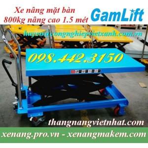 Xe nâng bàn 800kg nâng cao 1500mm Gamlift TAD80