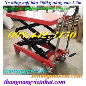 Xe nâng bàn 500kg nâng cao 1.5 mét WP500-1.5M