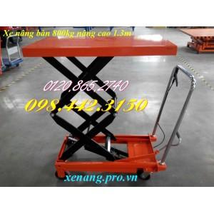 Xe nâng bàn cao 1.3 mét 800kg WP800/1.3M