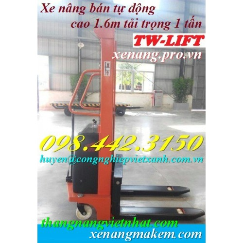 Xe nâng điện bán tự động 1,0 tấn cao 1.6 mét CTD1016