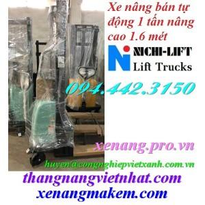 Xe nâng bán tự động 1 tấn cao 1.6 mét NICHI-LIFT NE1016