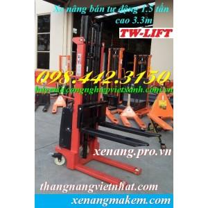 Xe nâng điện bán tự động 1,5 tấn cao 3.3 mét CTD1533