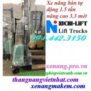 Xe nâng bán tự động 1.5 tấn cao 3.3 mét NICHI-LIFT NE1533