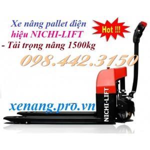 Xe nâng pallet điện 1.5 tấn NICHI-LIFT DC15