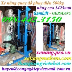 Xe nâng quay đổ phuy điện GAMLIFT EDT500-M (nâng điện, quay điện)