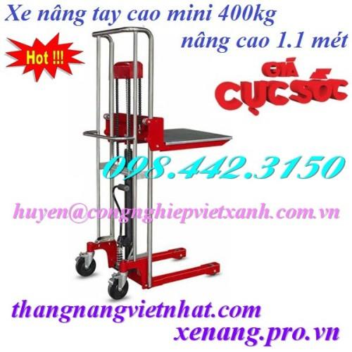 Xe nâng tay cao mini 400kg nâng cao 1.1 mét Gamlift MJ1100