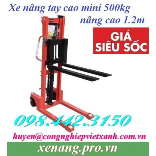 Xe nâng tay cao mini 500kg nâng cao 1.2 mét A0.5T/1.2M