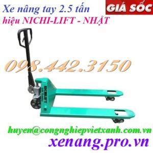 Xe nâng tay 2500kg NICHI-LIFT NF25