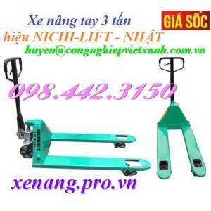 Xe nâng tay 3000kg NICHI-LIFT NF30