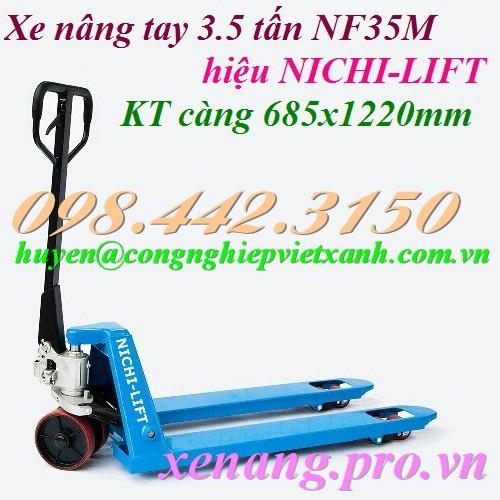Xe nâng tay 3500kg NICHI-LIFT NF35