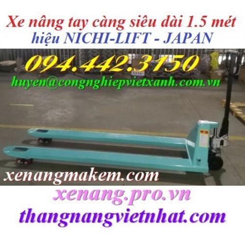 Xe nâng tay siêu dài 1500mm NICHI-LIFT N25M-15