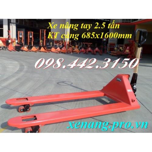 Xe nâng tay siêu dài 1600mm LC25/16