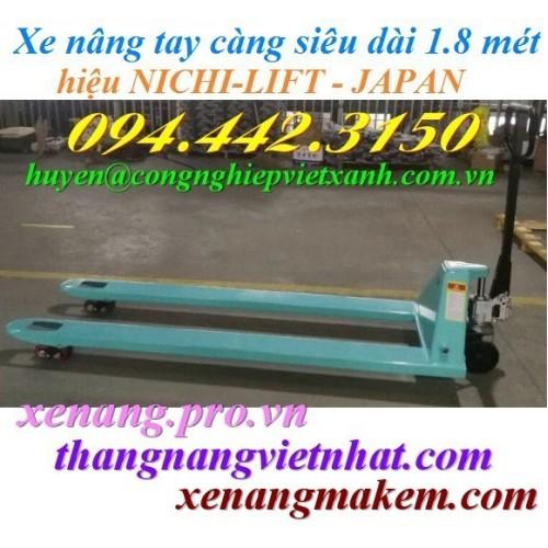 Xe nâng tay siêu dài 1800mm NICHI-LIFT N20M-18