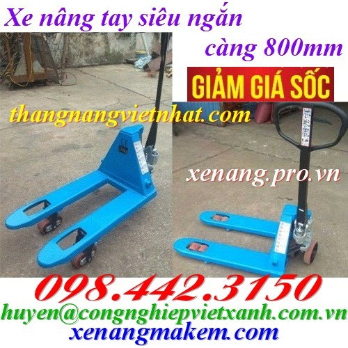 Xe nâng tay siêu ngắn 800mm GAMLIFT M25S-8
