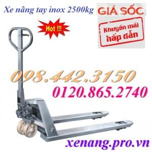 Xe nâng tay inox M25S