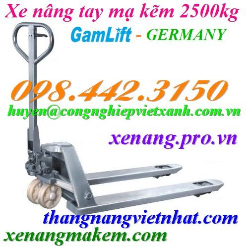 Xe nâng tay mạ kẽm 2500kg Gamlift MX25