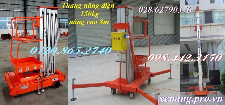 Thang nâng điện cao 8m tải 150kg