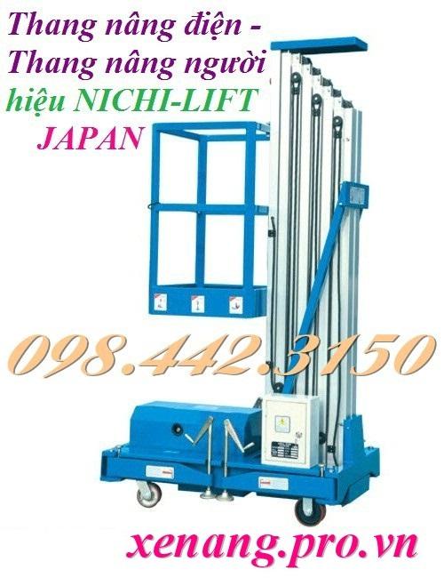 Thang nâng người cao 8 mét - 125kg NICHI-LIFT JAPAN